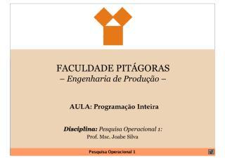9ª_Aula_PO - Programação Inteira.pdf