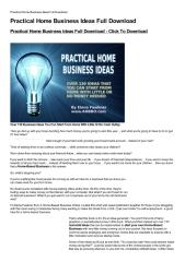 Practical Home Business Ideas Full Download-html.pdf