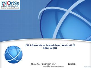 ERP Software Market Outlook and Forecast 2022.ppt