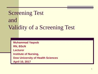 screening test and its validity.pptx