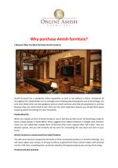 Why purchase Amish furniture.pdf