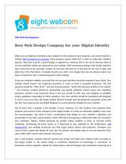 Best Web Design Company for your Digital Identity.doc