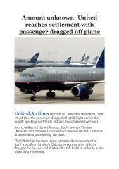 Amount unknown- United reaches settlement with passenger dragged off plane.pdf