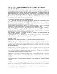 HACIA UNA CRONOLOGIA DE LA TELEVISION MEXICANA.docx