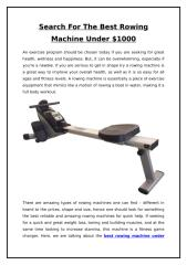 Search For The Best Rowing Machine Under $1000.doc
