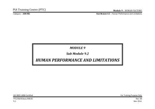 Module 9 (Human Factors) Sub Module 9.2 (Human Performance and Limitations)_Rev 1_Sep 2013.pdf