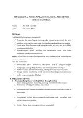 PENGEMBANGAN PEMBELAJARAN SOSIOLOGI MELALUI METODE DISKUSI MAHASISWA UNTUK MEMAHAMI KEBUDAYAAN SOSIAL MASYARAKAT.docx