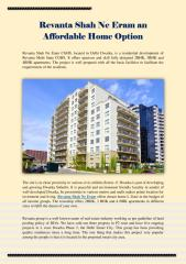 Revanta Shah Ne Eram an Affordable Home Option.pdf