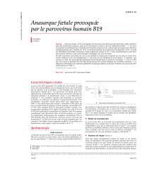 Anasarque foetale provoquée par le parvovirus humain B19.pdf