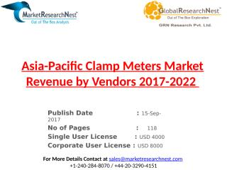 Asia-Pacific Clamp Meters Market Revenue by Vendors 2017-2022.pptx