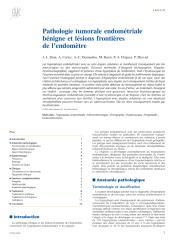 Pathologie tumorale endométriale bénigne et lésions frontières de l'endomètre.pdf