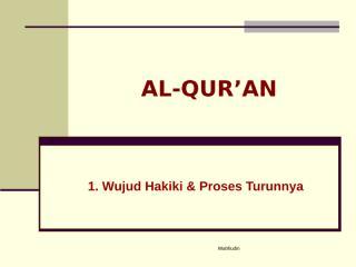 wahfiudin - al qur'an.ppt