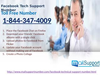Facebook Tech Support Number 1-844-347-4009 available 24 Hours.pptx